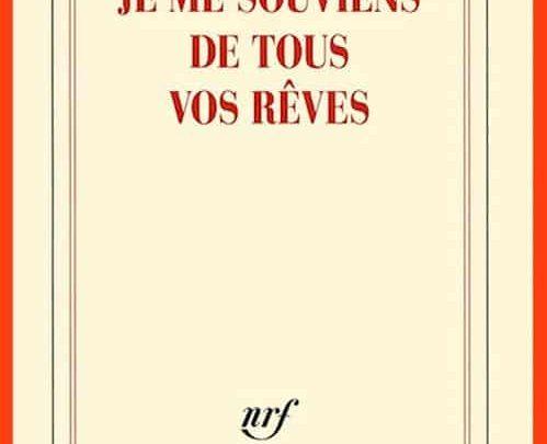 René Frégni - Je me souviens de tous vos rêves